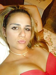Compilation of self-shot pics from this tan blonde babe
