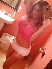 Selection of sexy amateur chicks camwhoring at home
