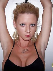 Picture collection of an amateur sexy pierced and tattooed naked GF