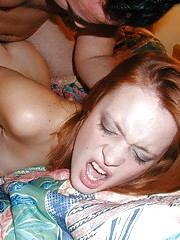 Cocksucking horny amateur GF gets fucked and jizzed on