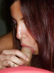 Picture collection of wild amateur GFs sucking on hard dicks