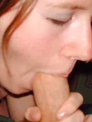 Picture collection of wild amateur chicks sucking on boners