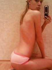 Compilation of a naked amateur chick camwhoring