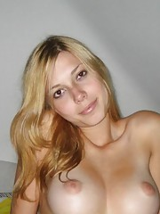Compilation of a sexy blonde bimbo showing off her nice tits