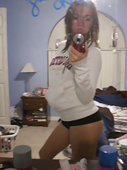 Picture collection of an amateur steamy hot babe selfshooting